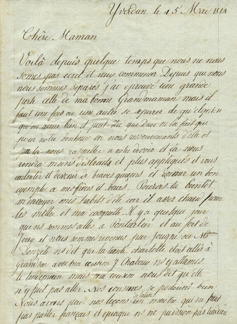 Musée Virtuel Du Patrimoine Scolaire Document 1814