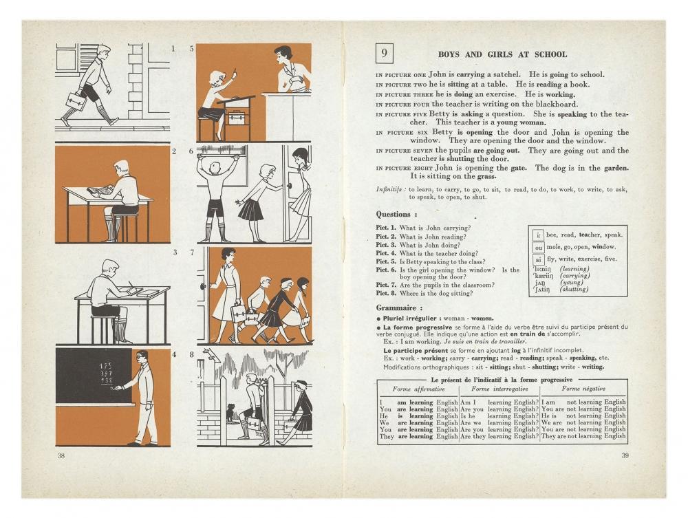 Musee Virtuel Du Patrimoine Scolaire Livre Anglais